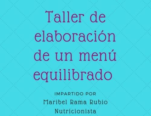 TALLER DE ELABORACIÓN DE UN MENÚ EQUILIBRADO