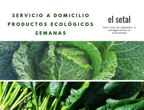 SEMANA 5.EL SETAL. HOJA DE PEDIDO PRODUCTOS ECOLÓGICOS.