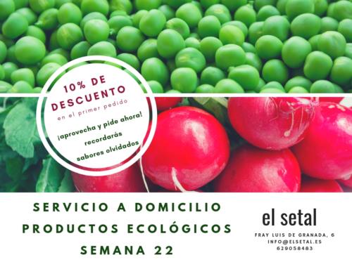 SEMANA 22. EL SETAL. HOJA DE PEDIDO PRODUCTOS ECOLÓGICOS.